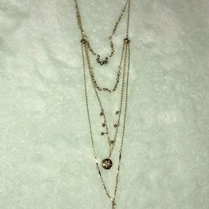 American Eagle Gold Chain Pendant Necklace new